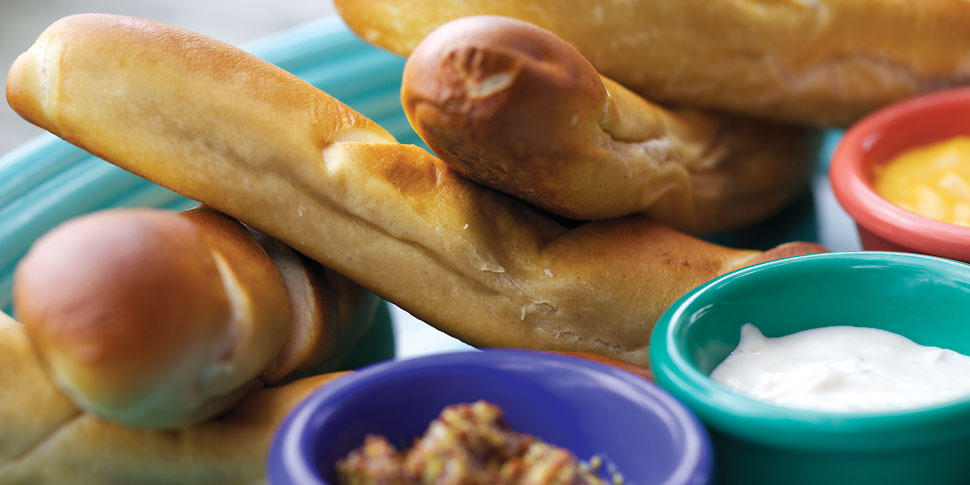 Try our delicious Bavarian-style pretzels!